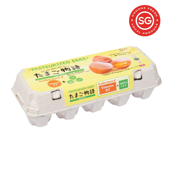 Egg Story Pasteurized Eggs 10S With Vitamin D3 And Omega 3 & 6 (Keep Chilled)