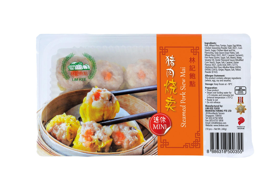 Food Retail - Mini Pork Siew Mai (10pcs x 24g)