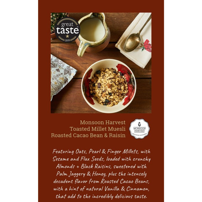 Monsoon Harvest - Muesli Roasted Cacao Bean And Raisin (15 packs x 250g)