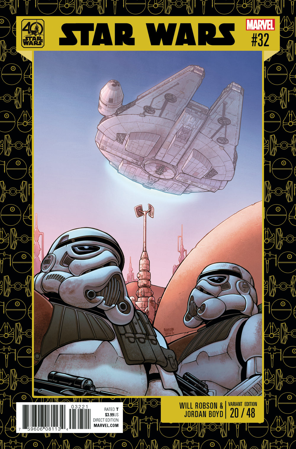 Star Wars #32  Bartel Star Wars 40Th Anniversary  - *VARIANT*