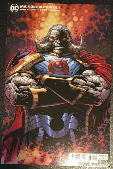 Dark Nights: Death Metal #4  Darkseid Card Stock Variant David Finch