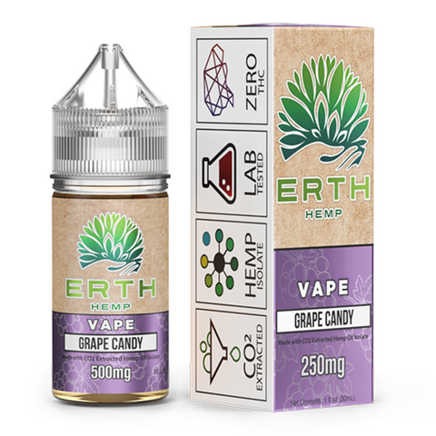 ERTH Hemp CBD e-Juice 500mg - GRAPE CANDY