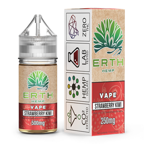 ERTH Hemp CBD e-Juice 500mg - STRAWBERRY KIWI