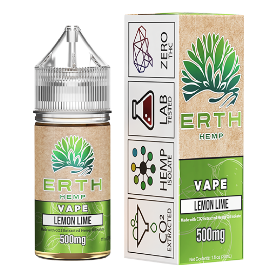 ERTH Hemp CBD e-Juice 500mg - LEMON LIME