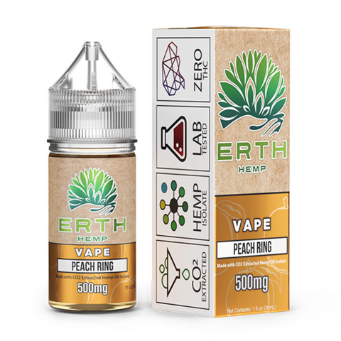 ERTH Hemp CBD e-Juice 500mg - PEACH RING