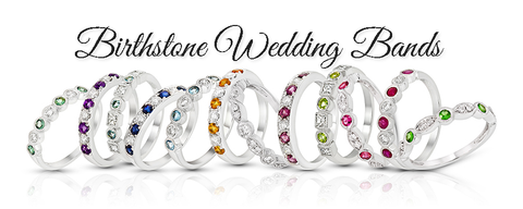birthstone wedding bands