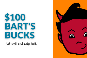 $100 Bart's Bucks eGift Card