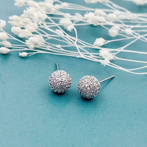 Shan & Co. | Paved ball Kelly earrings