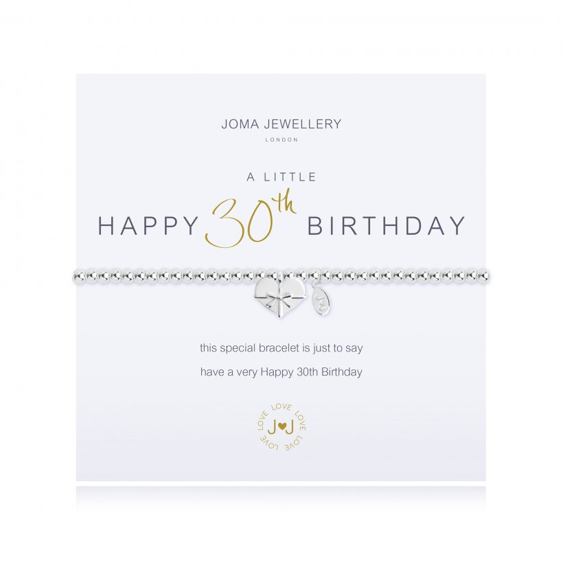 Joma Jewellery | a little Happy 30th Birthday Bracelet