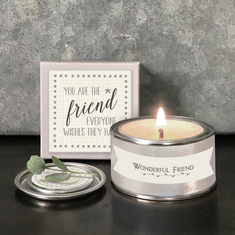 East of India | Boxed candle | You are the friend