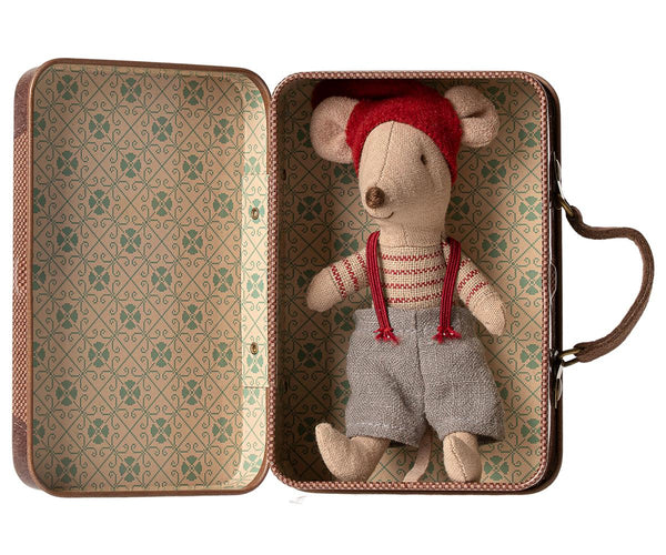 Maileg | Christmas Mouse in Suitcase, Little brother