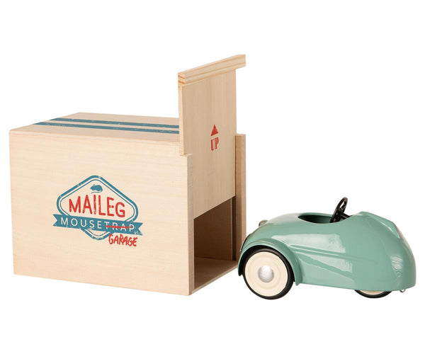Mouse Car W. Garage - Blue