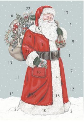 Sally Swanell | Father Christmas | Advent Calendar Card