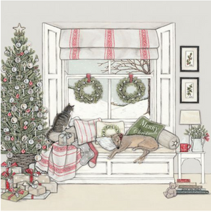 Sally Swanell | Waiting for Father Christmas |Card Set