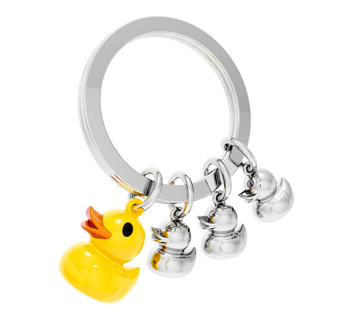 METALMORPHOSE KEYRINGS | YELLOW DUCK AND FAMILY KEYRING