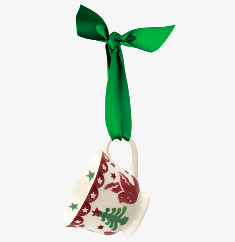 Emma Bridgewater | Christmas Joy Tiny Teacup Tree Decoration Boxed