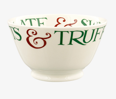 Emma Bridgewater | Christmas Toast & Marmalade Brazil Nuts Small Old Bowl