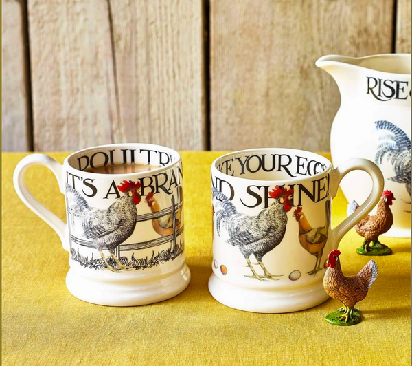 Emma Bridgewater | Rise & Shine Set of 2 1/2 Pint Mugs Boxed