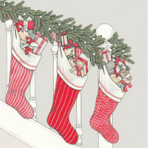 Sally Swannell | 'Christmas Stockings' Card Set