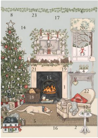 Sally Swannell | Christmas Eve | Advent Calendar Card