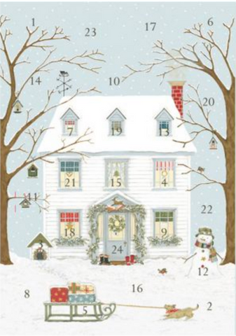 Sally Swanell | Christmas House | Advent Calendar Card