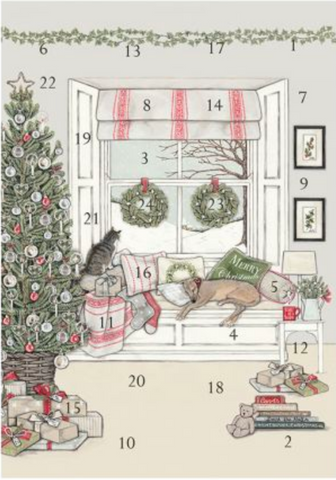 Sally Swannell | Waiting for Father Christmas | Advent Calendar Card