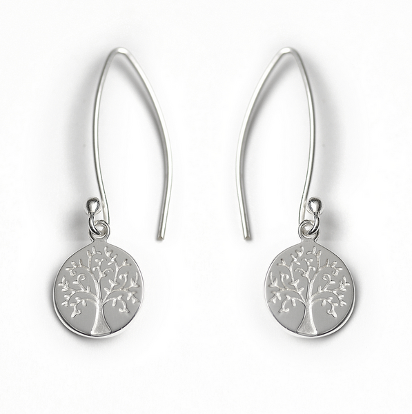 Tales From The Earth |  Silver tree of life earrings