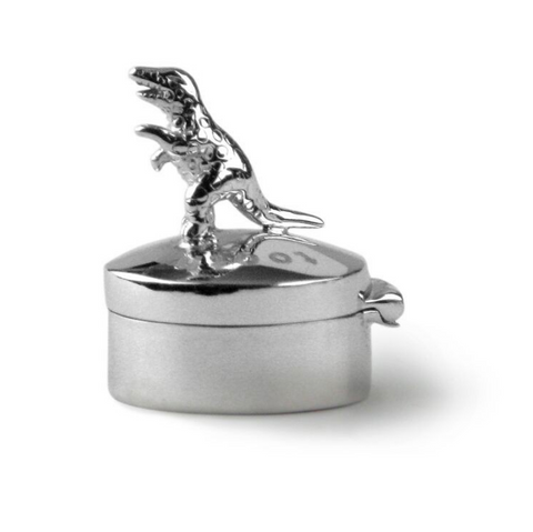 Tales From The Earth | Silver t rex first tooth box