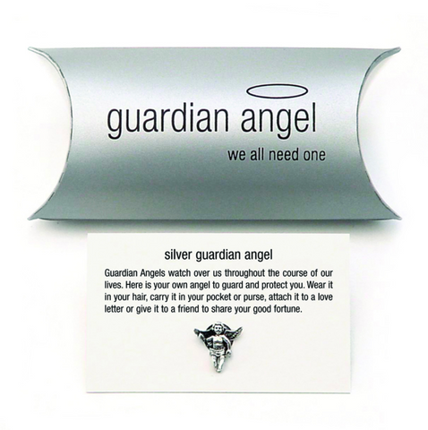 Tales From The Earth |  Silver guardian angel charm (pillow pack)