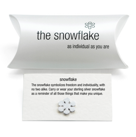 Tales From The Earth | Silver snowflake charm (pillow pack)