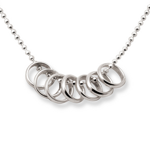 Tales From The Earth | Silver lucky seven rings necklace