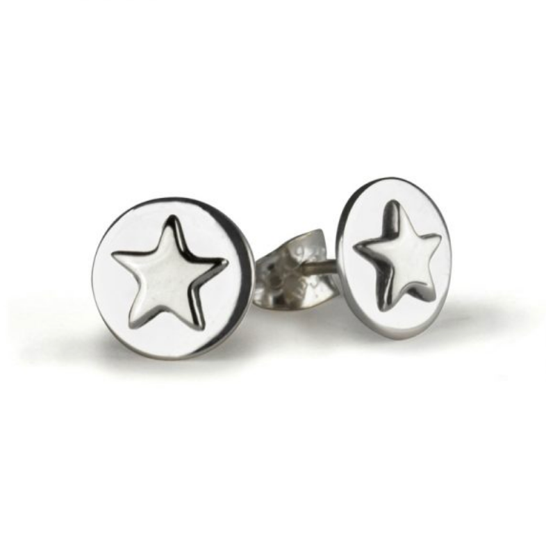 Tales From The Earth | Silver lucky star earrings