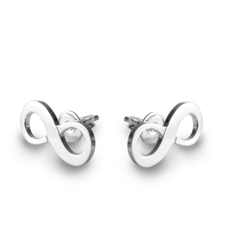 Tales From The Earth |  Silver infinity stud earrings