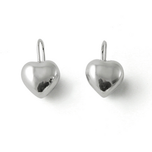 Tales From The Earth | Silver love heart hook earrings