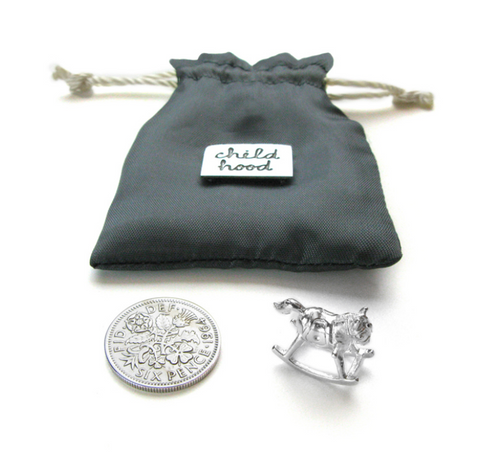 Tales From The Earth | Silver childhood keepsake pouch