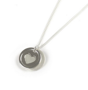 Tales From The Earth |  Silver heart wish disc necklace