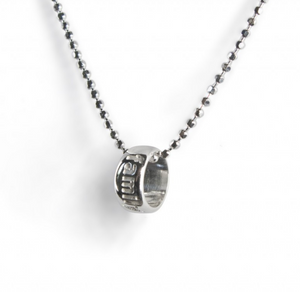 Tales From The Earth |  Silver family word circle necklace
