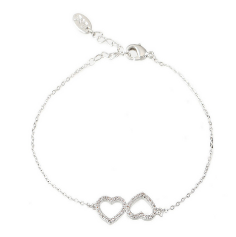 Shan & Co. | Double love heart Molly bracelet