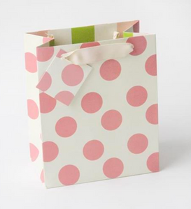 Caroline Gardner | Polka Dots Pink Medium Gift Bag
