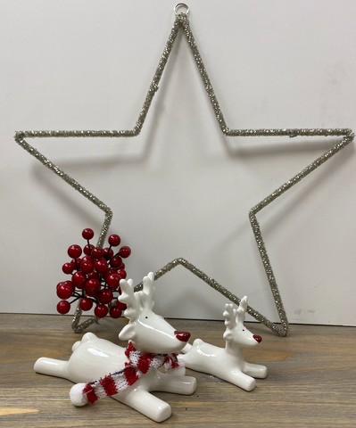 Christmas Decoration | Lying Down Reindeer