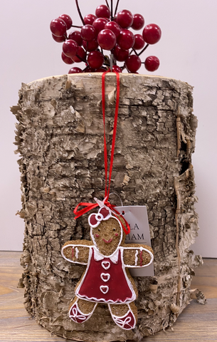 Gisella Graham | Gingerbread Lady | Red Dress & Bow