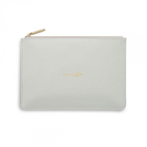 Katie Loxton | Perfect Pouch | Super Sister | Pale Grey