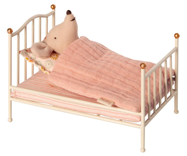 Vintage bed, Mouse - Off white