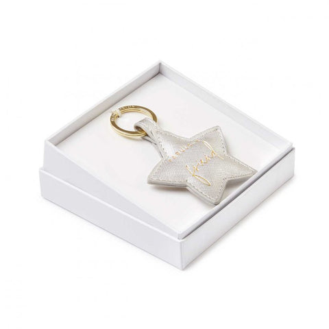 Katie Loxton | Beautifully Boxed Sentiment Keyring | Fabulous Friend | Silver