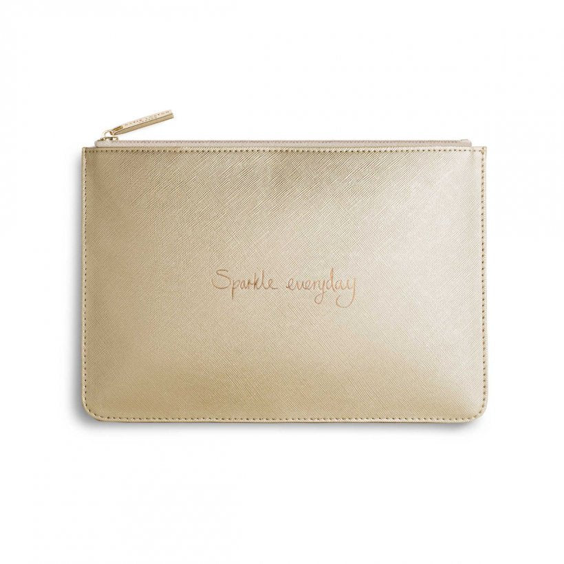 Katie Loxton | Perfect Pouch | Sparkle Everyday | Metallic Gold