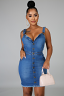 "Load image into Gallery viewer, ""So Chic Denim"" dress"