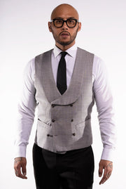 -Silver- Fabric Vest Selection