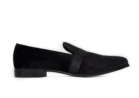 Black Velvet Dress Slipper