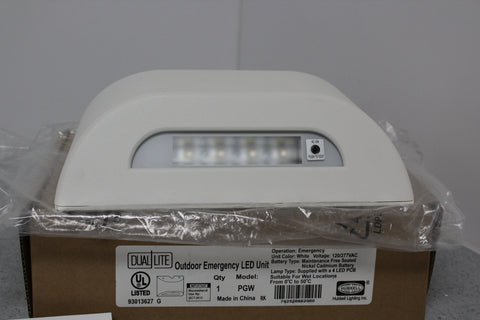 BRAND NEW Hubbell Dual Lite PGW 4 LED Outdoor Emergency Lighting Fixture 120/277