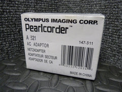 Brand New Genuine Olympus Pearlcorder AC Adapter model A321 147-311 Ships Free - tin can industries
